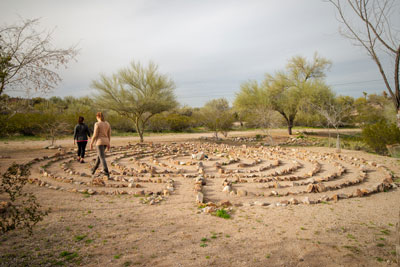 Cottonwood Tucson - labyrinth - spirituality in recovery