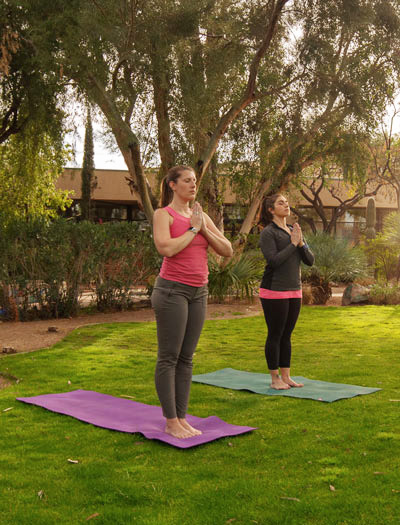 Yoga at Cottonwood Tucson - treating the mind, body and spirit - addiction and mental health treatment center in Arizona - exercise