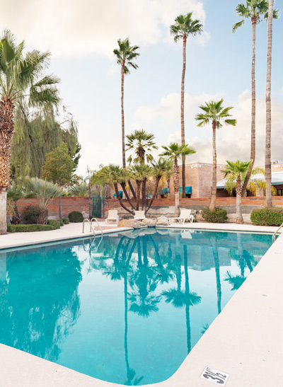outdoor swimming pool - Cottonwood Tucson - Arizona behavioral health and addiction treatment center