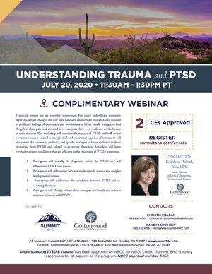 Understanding Trauma and PTSD July 20 2020