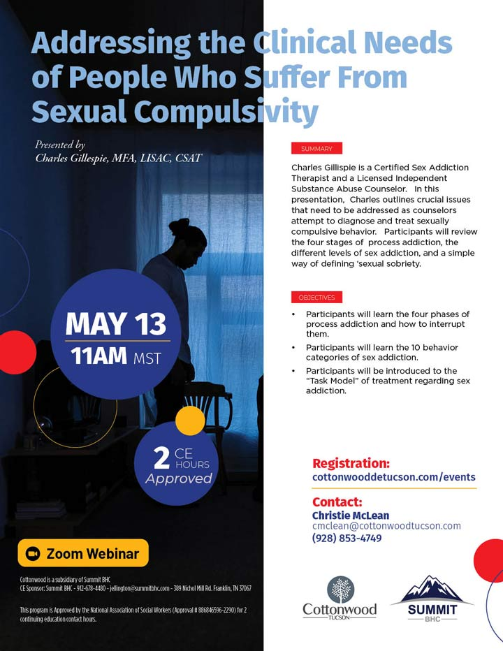 Addressing the Needs of People Who Suffer from Sexual Compulsivity - Webinar - May 13, 2021
